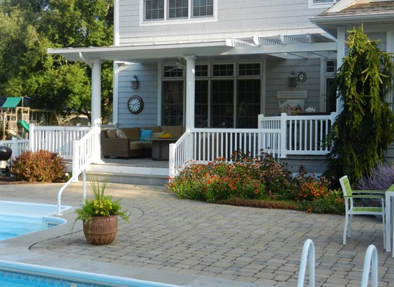 existing wood deck